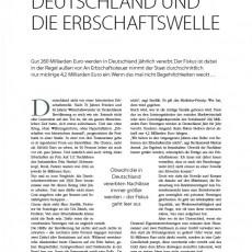 Deutschland und die Erbschaftswelle