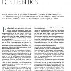 Die Spitze des Eisbergs - Ein Beitrag von RA Markus Arendt