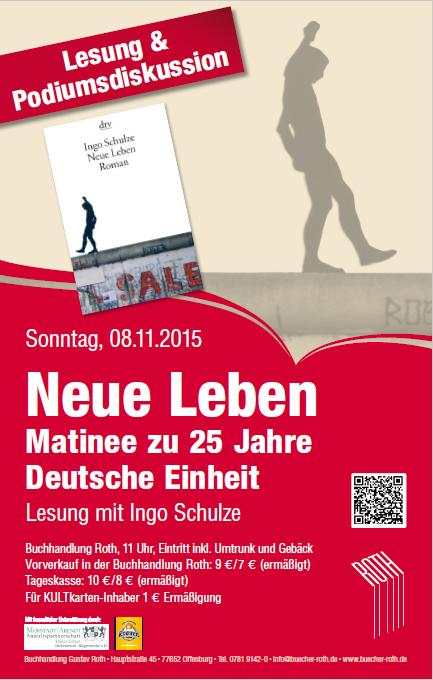 Veranstaltungstipp - Buchhandlung Roth Offenburg - Lesung - Ingo Schulze - Altenburg - Neue Leben - Deutsche Einheit - Anwalt Offenburg - Kanzlei Offenburg