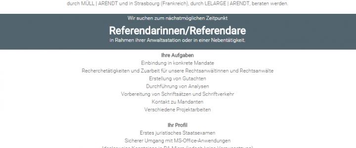 Stellenangebot Referendare