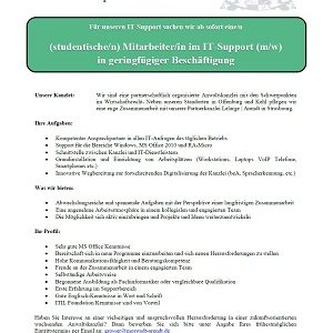 Stellenangebot IT-Support